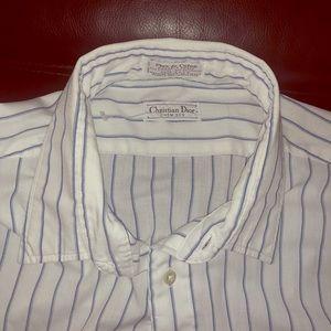 Christian Dior Button Down Striped Shirt